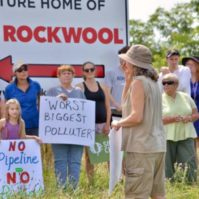 Rockwool protesters