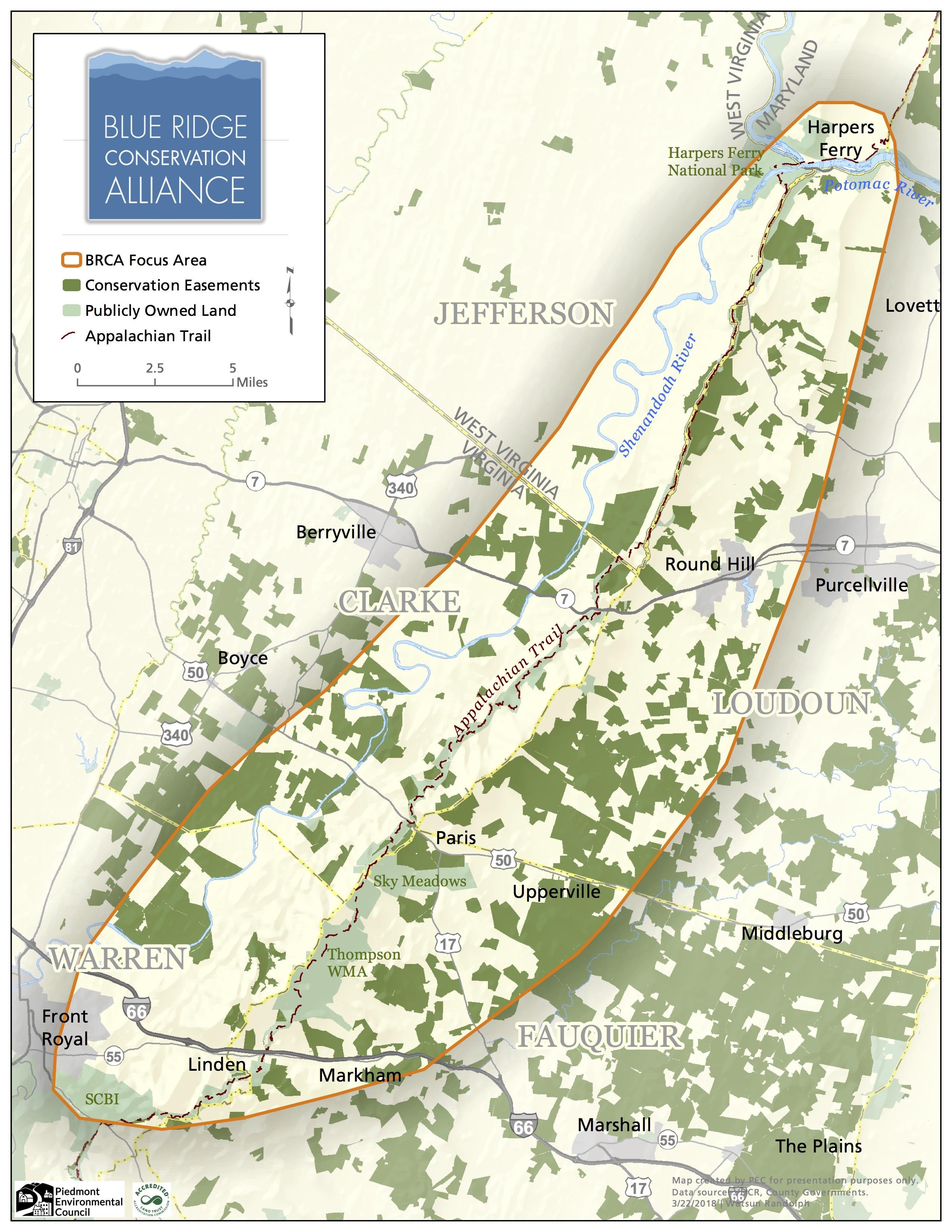 Focus Area Blue Ridge Conservation Alliance