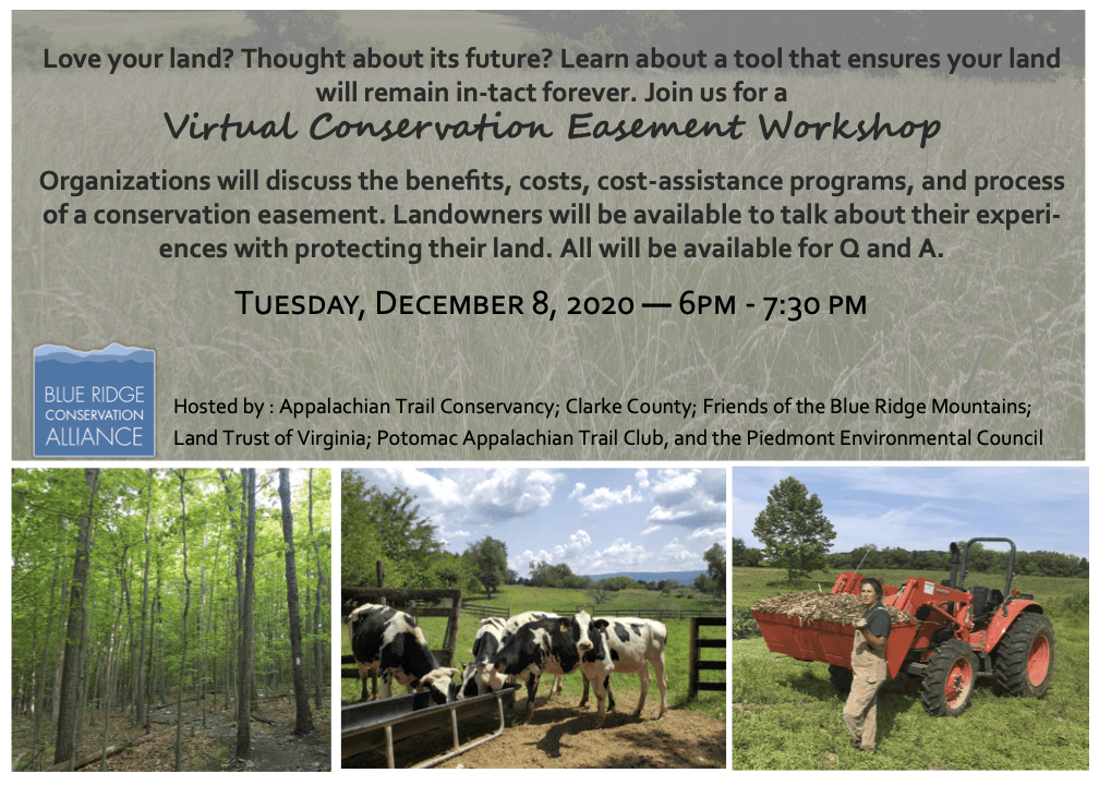 Save the Date: Dec. 8 </br> Webinar: Introduction to Conservation Easements