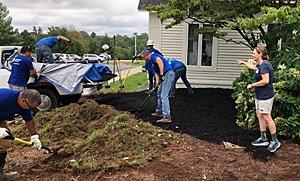 Preparing the ground